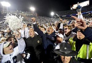 Penn State upsets the Ohio State Buckeyes (Photo Credit: Abby Drey/Centre Daily Times via AP)