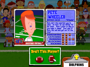 Backyard Football Plays comparing the 2017 nfl draft class to 2002 backyard football players