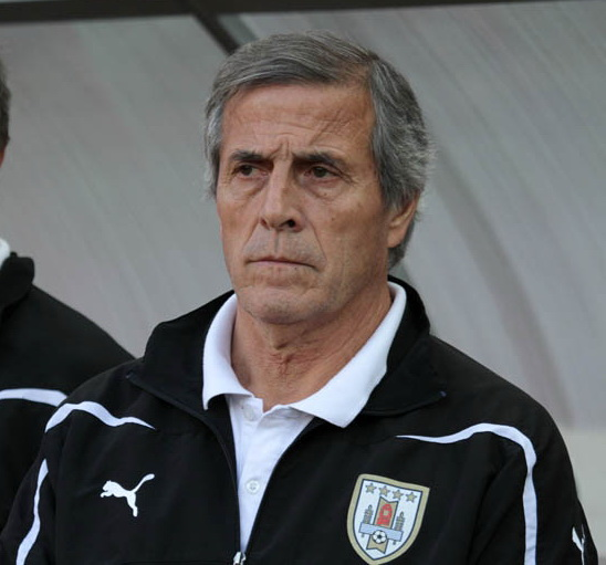 Uruguay manager Óscar Wáshington Tabárez can be pleased with the fact that his team is in 2nd-place in South America. Photo courtesy Wikimedia Commons User: Елена Рыбакова Photo licensed under Creative Commons Attribution-Share Alike 3.0 Unported License.