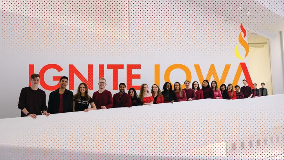 The Ignite Iowa team is one of three tickets running to lead the University of Iowa student government.